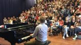 "Music teacher and class sing ""Bohemian Rhapsody"""