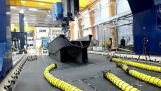The largest 3D printer in the world printing a speedboat