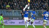 De Cristiano Ronaldo vliegt en bereikt een imposant schot