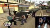 Cenário realista no jogo GTA