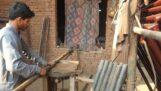 Budowa tradycyjnego łóżka Charpai