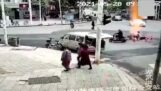 Вибух газу під перехрестям (Китай)