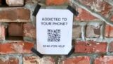 QR code that helps mobile addicts