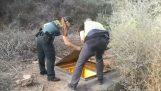 A rendőrök megtalálják a rejtett földalatti kannabisz ültetvényt (Spanyolország)