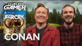 "Clueless Gamer: ""Far Cry Primal"" Kanssa PewDiePie – CONAN TBS"