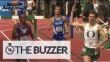 Runner viert voortijdig win, wordt doorgegeven bij finish