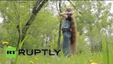Russia: Meet Siberia's 'Rapunzel', the Instagram icon whose hair reaches her SHINS