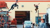 Parkour & Freerunning Stunts on Moving Cars!