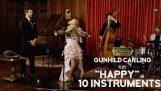 boldog – Pharrell Williams (10 különböző hangszeren Cover) (Ft. Gunhild Carling)