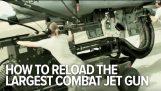 Comment l'USAF recharge l'arme de jet de combat plus grand de la planète
