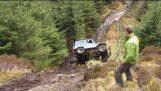 โรลโอเวอร์ล้มเหลวมหากาพย์ 4×4 ปิดถนนล้มเหลวเวลส์ Toyota Land Cruiser 40 4wd มากอ๊ะ